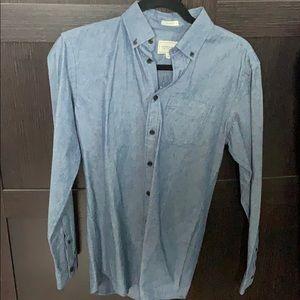 Frank and Oak Blue Chambray Shirt size XS